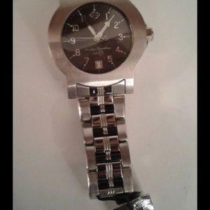 Harley Davidson Stainless Steel Watch New w/ Flaw